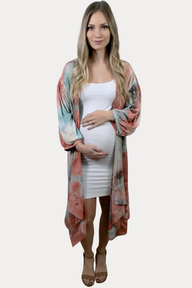 tie dye pregnancy kimono