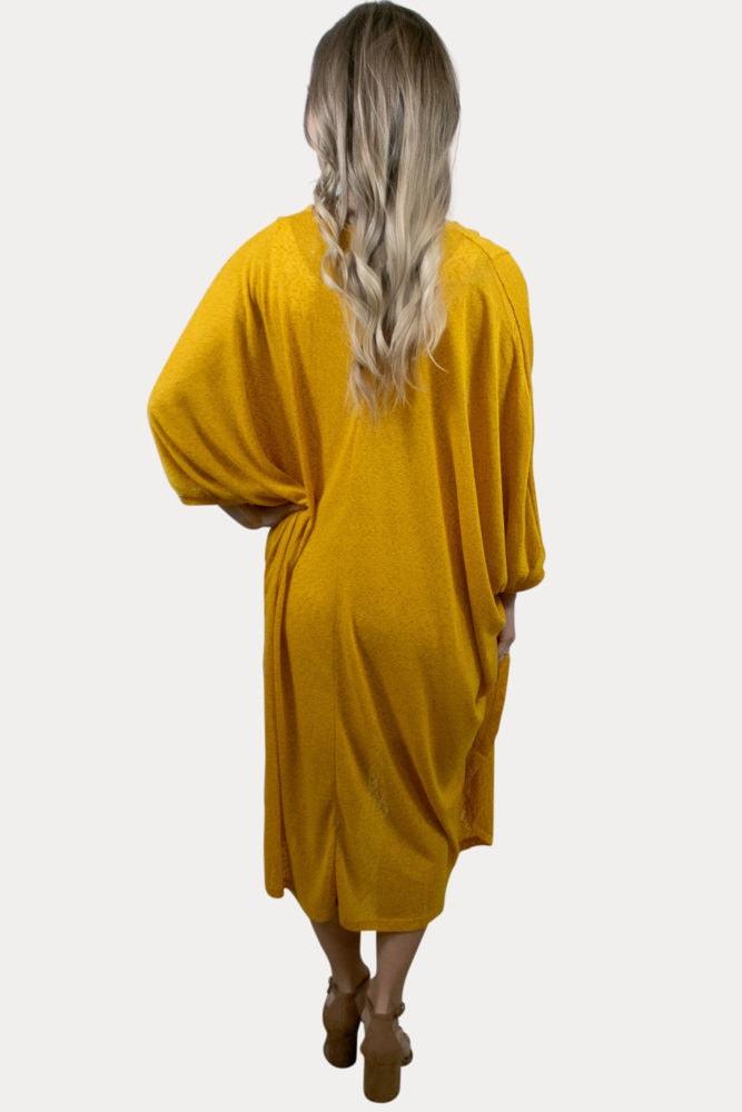 mustard maternity cardigan