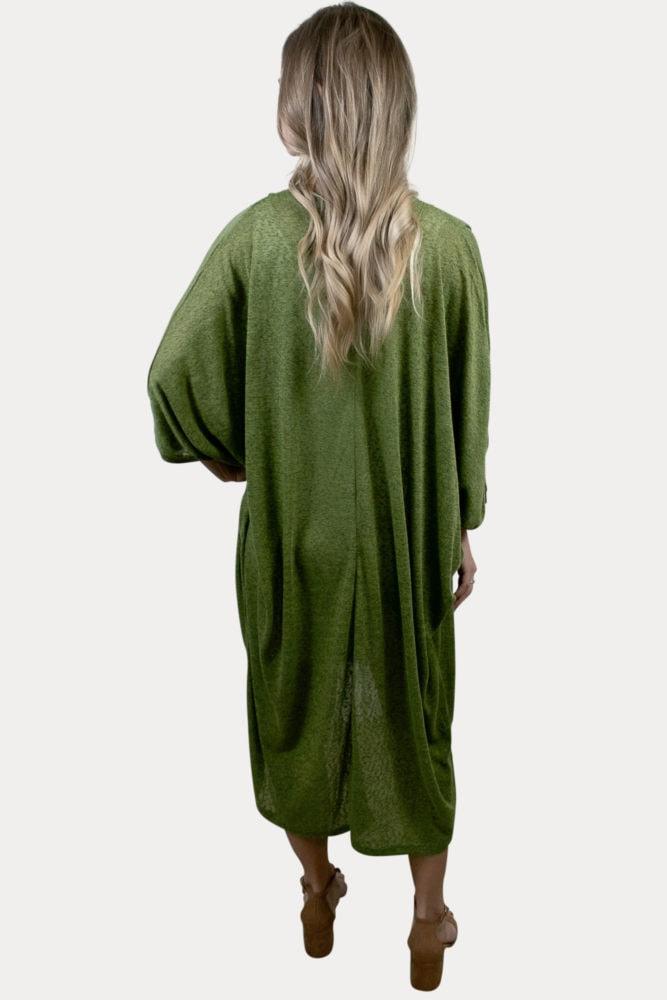 olive green maternity cardigan