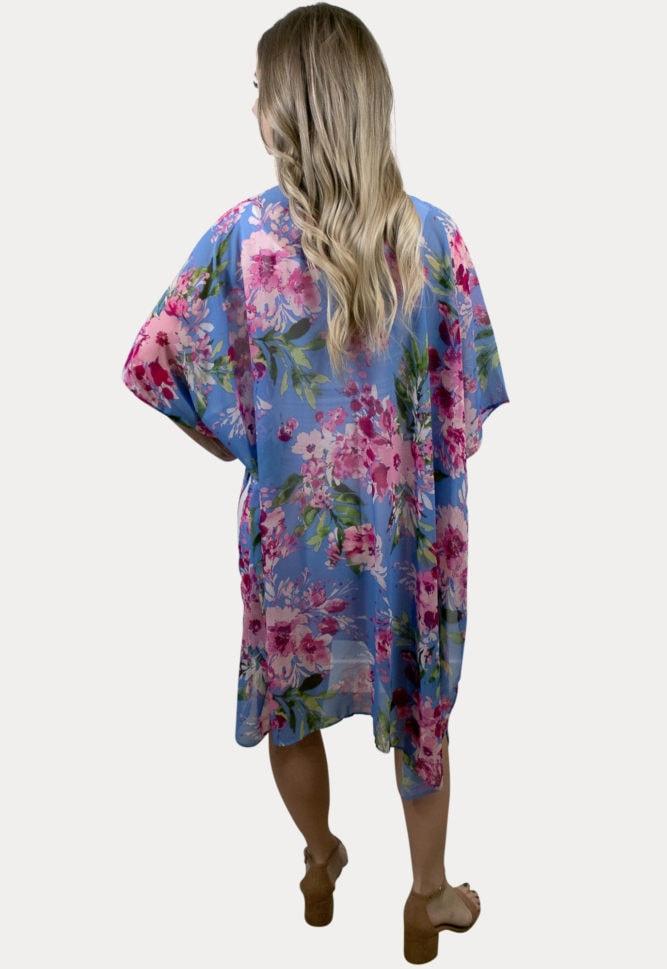 purple floral maternity cardigan