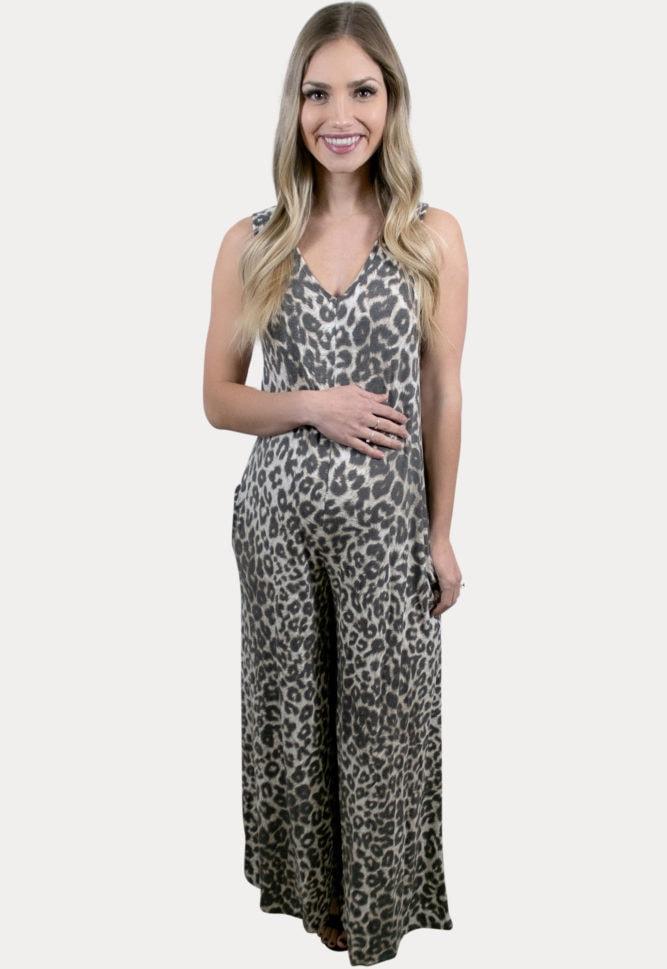 leopard maternity jumper
