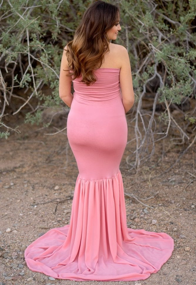 mermaid style maternity dress