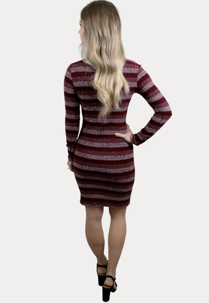 striped pregnancy sweater dress