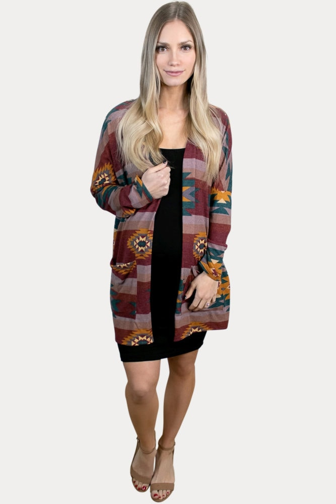 aztec maternity kimono