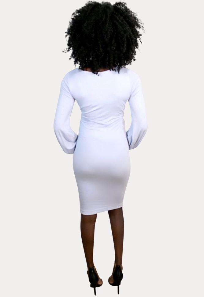 boat neck pregnancy dress