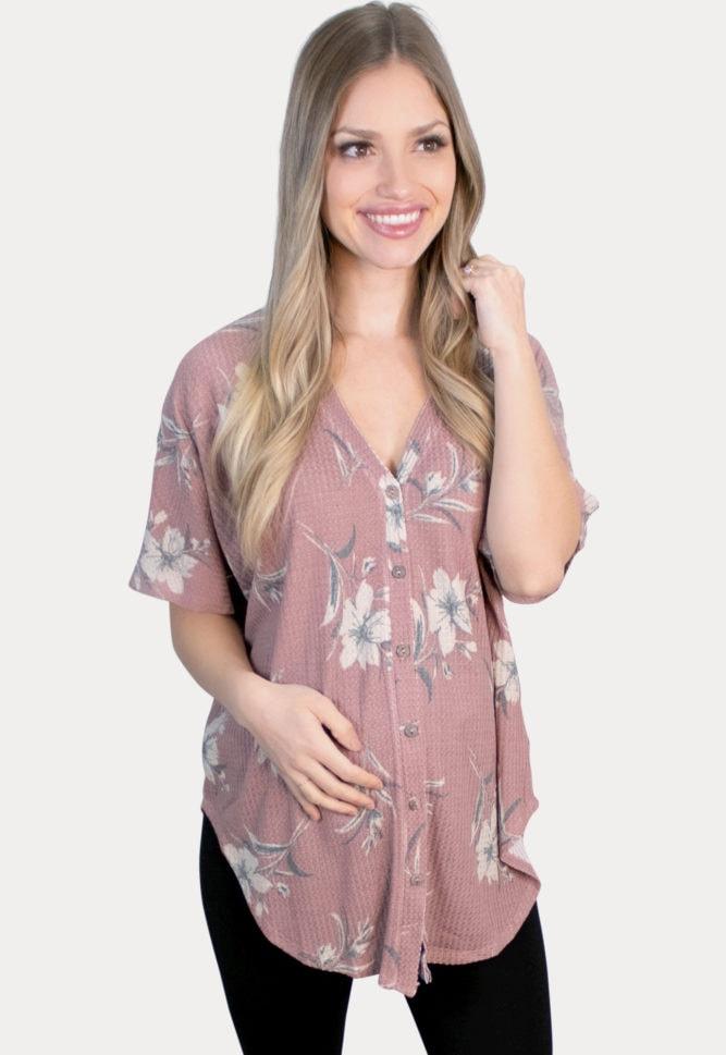 floral pregnancy tee