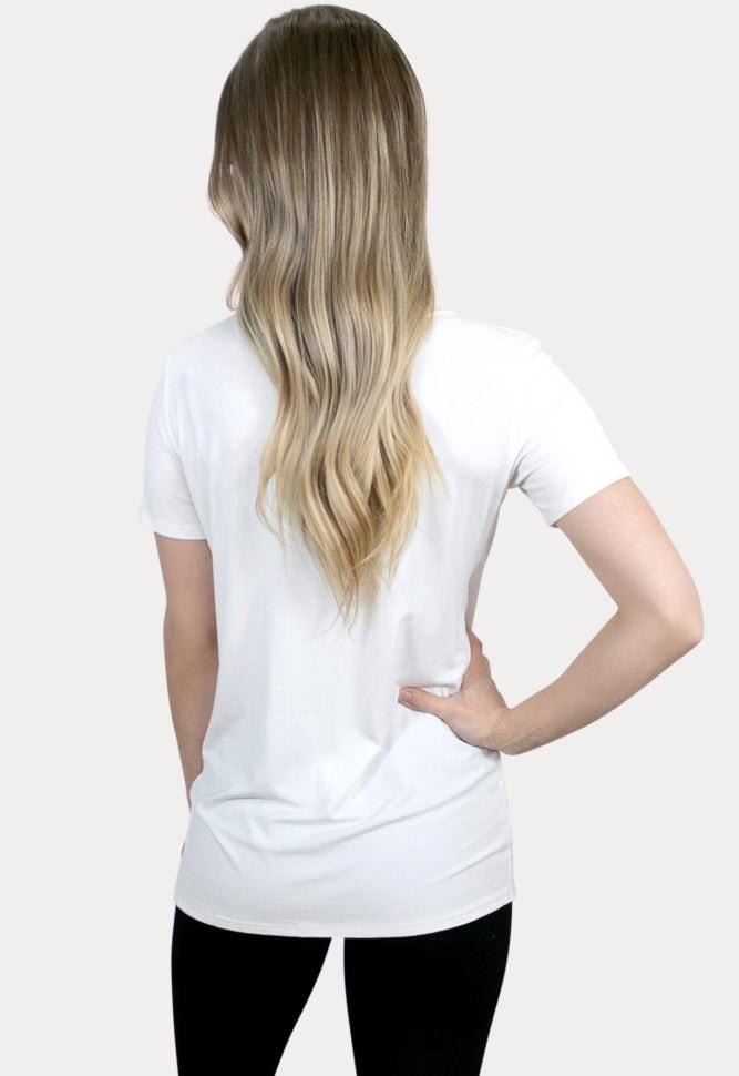 white pregnancy tee
