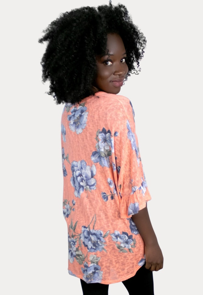 coral maternity top
