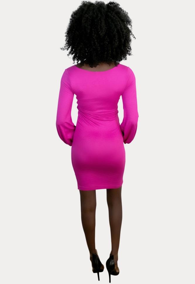 deep scoop pregnancy dress