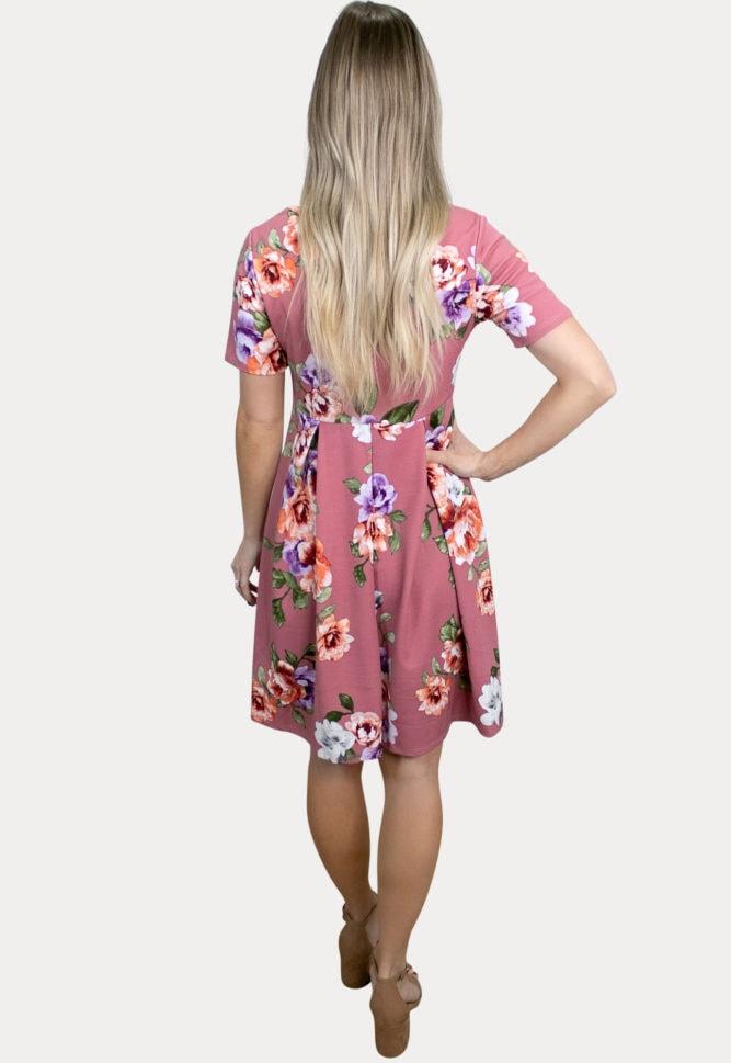 floral babydoll pregnancy dress