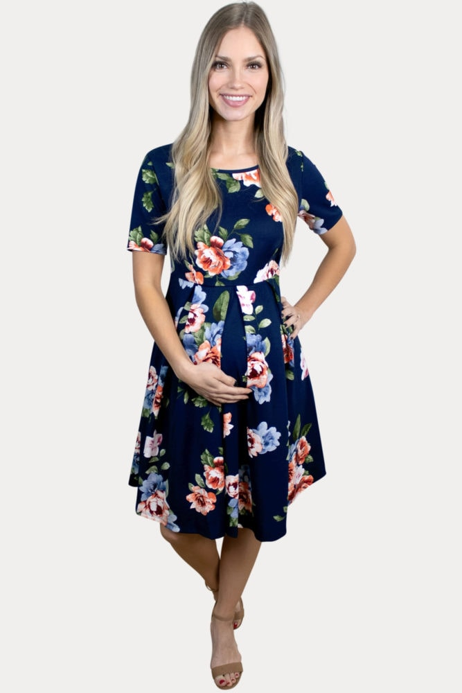 floral babydoll maternity dress