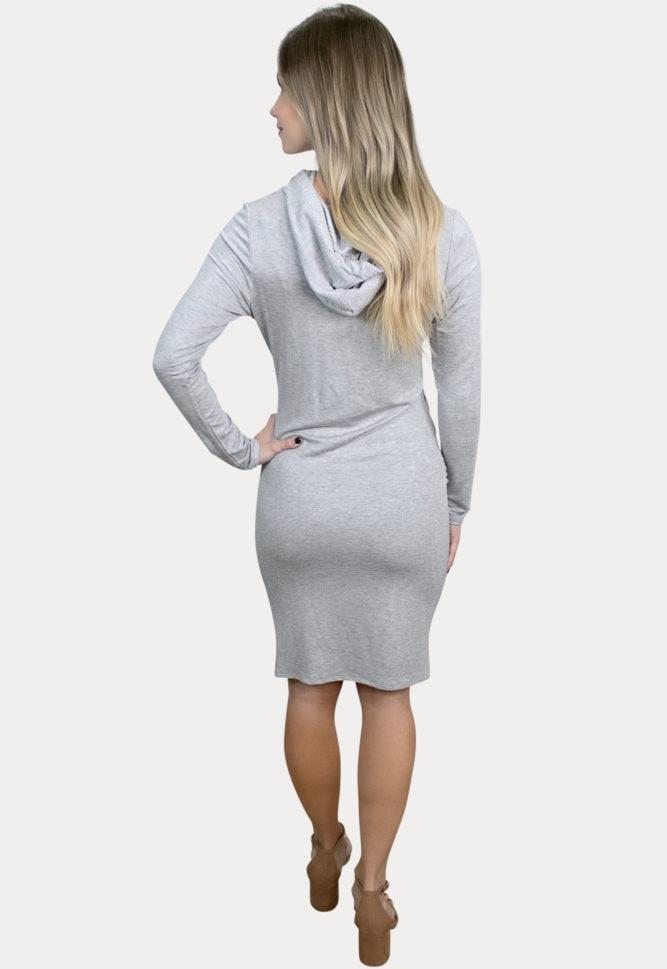 hooded pregnancy dress