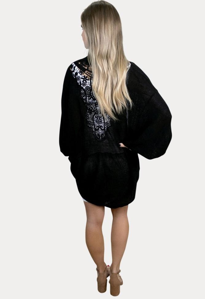 black maternity cardigan
