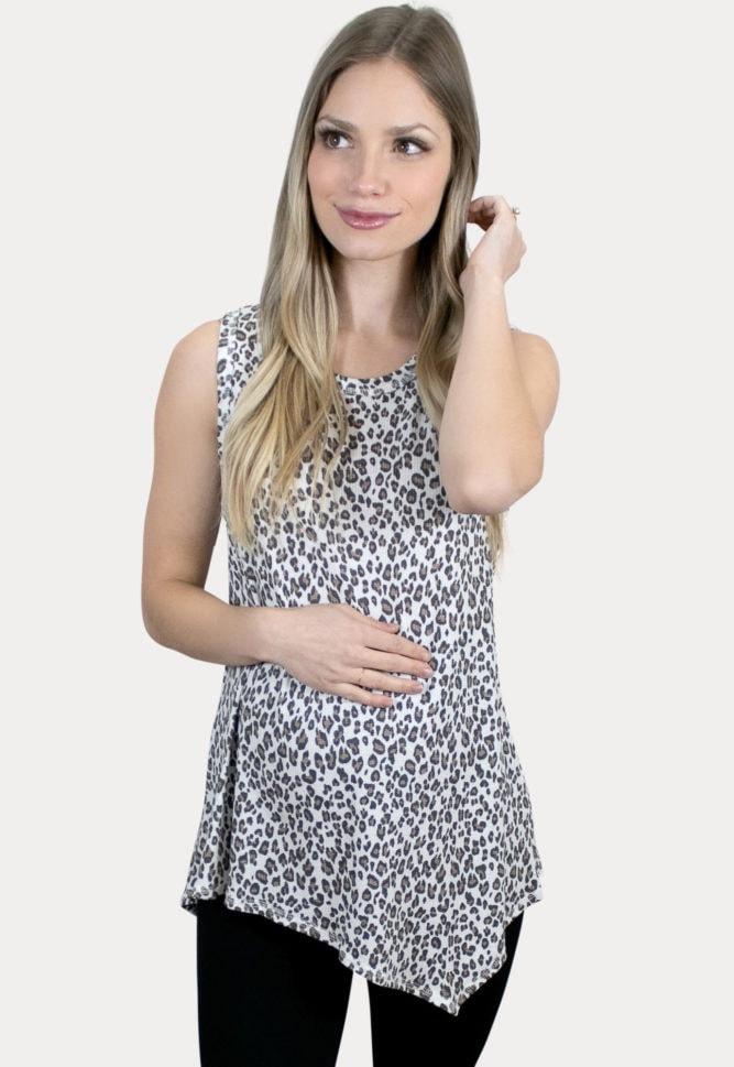 leopard maternity tank