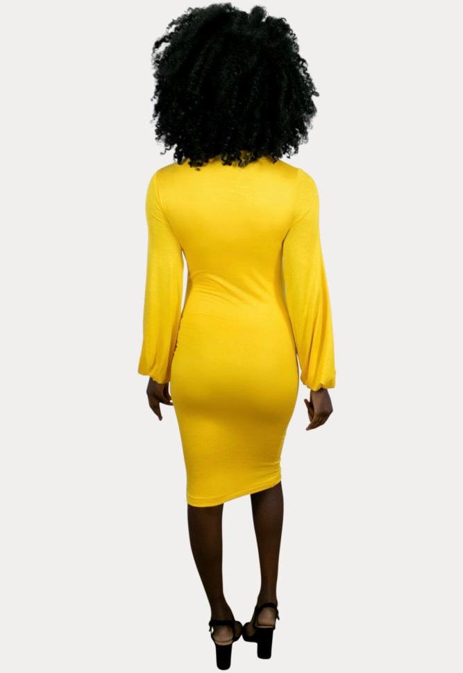 mock neck pregnancy dress