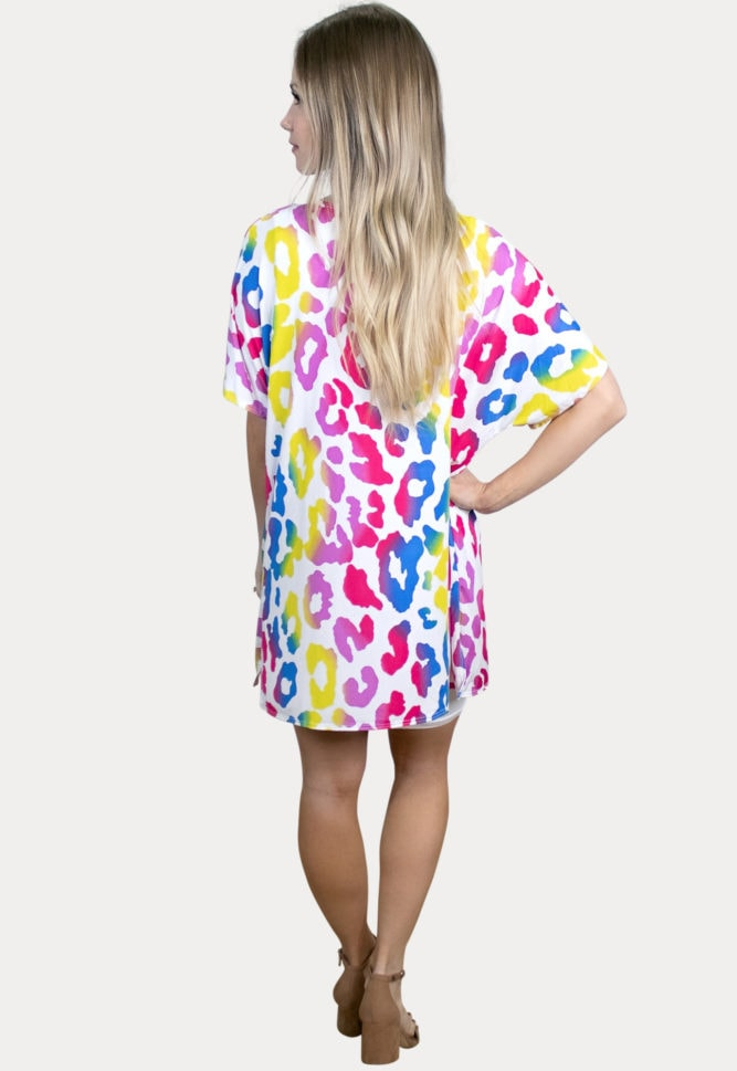 fun leopard maternity kimono
