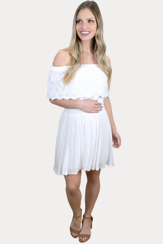 embroidered pregnancy dress