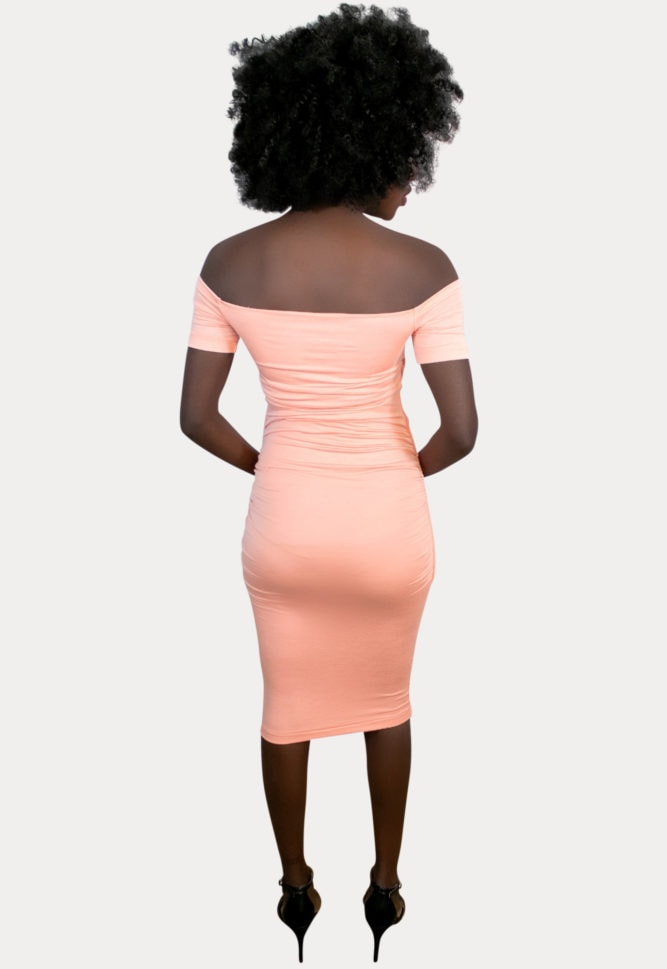 ruched pregnancy dress