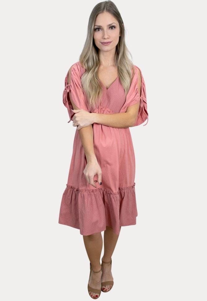 babydoll striped pregnancy dress