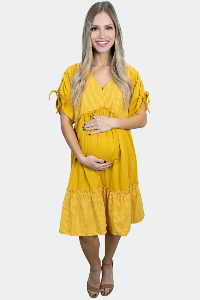 babydoll striped maternity dress