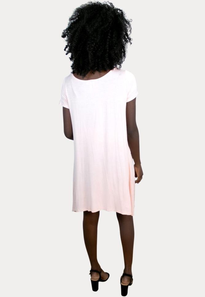 short-sleeve pregnancy dress