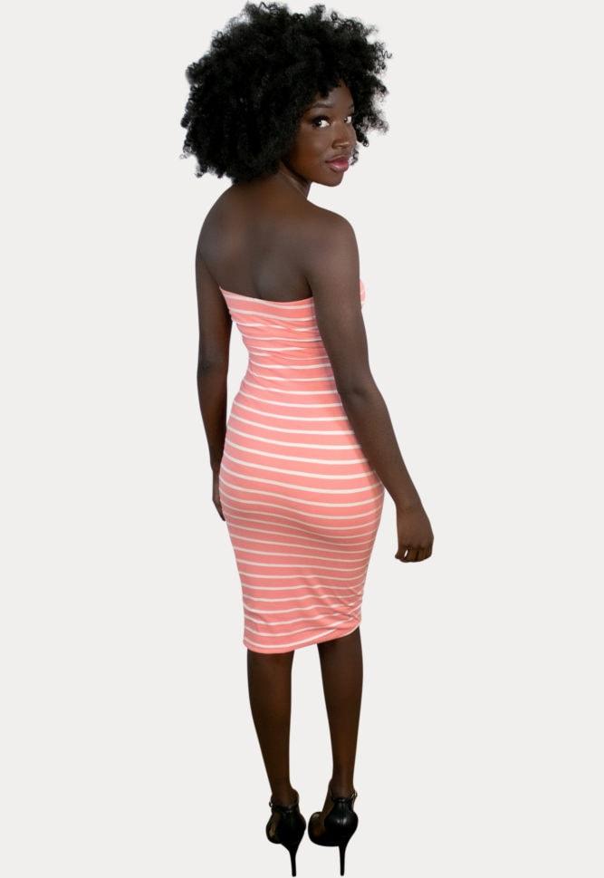 striped pregnancy bodycon