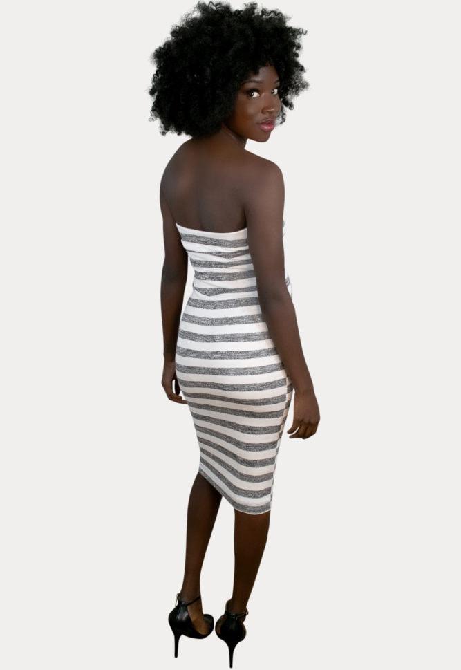 striped maternity bodycon