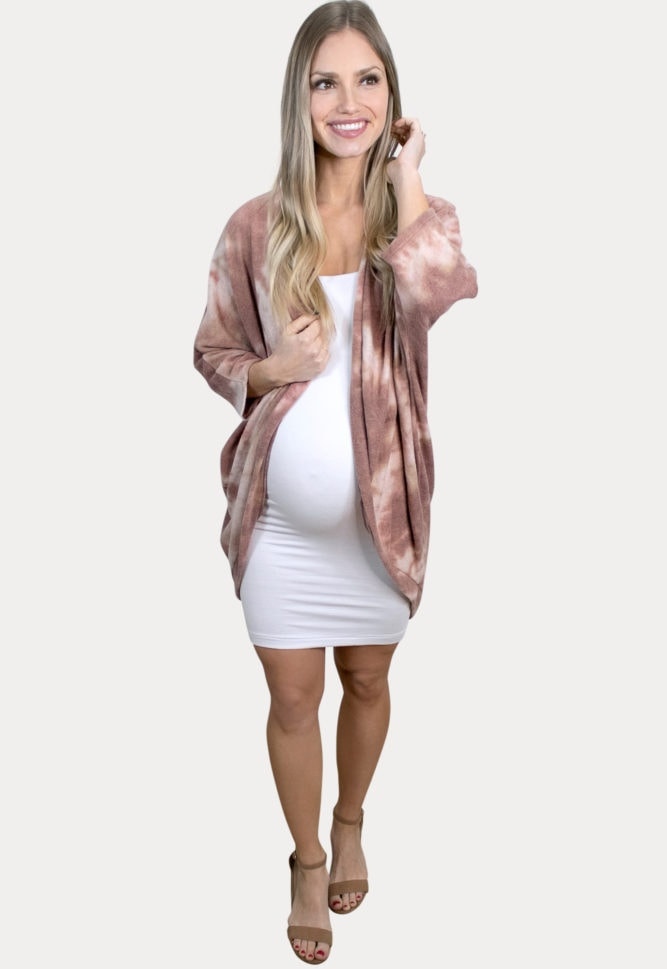 tie dye pregnancy cardigan
