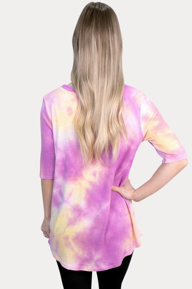 pink tie dye pregnancy top