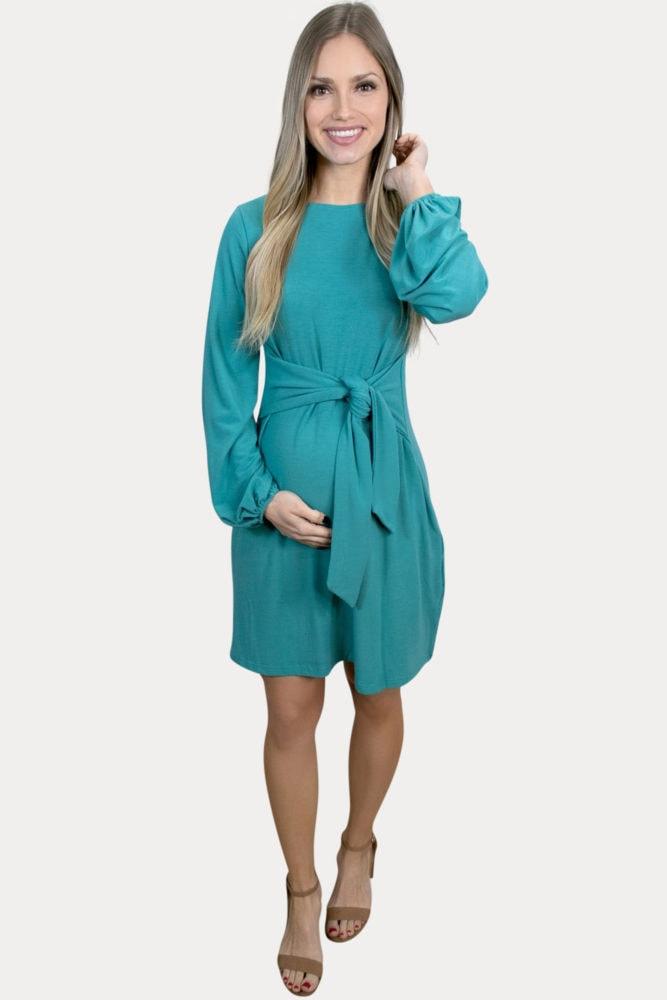 bishop sleeve pregnancy dress