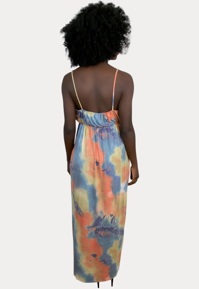 tie dye maternity maxi dress
