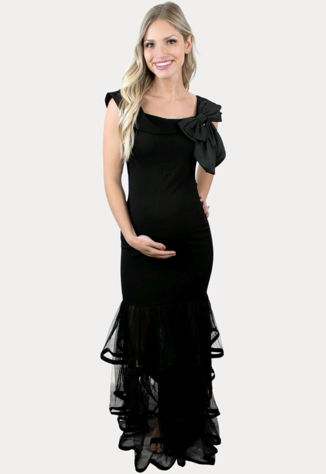 elegant maternity maxi