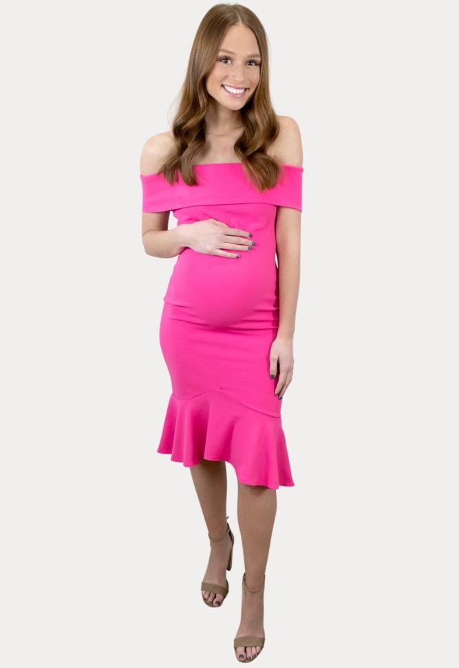 flare pregnancy dress
