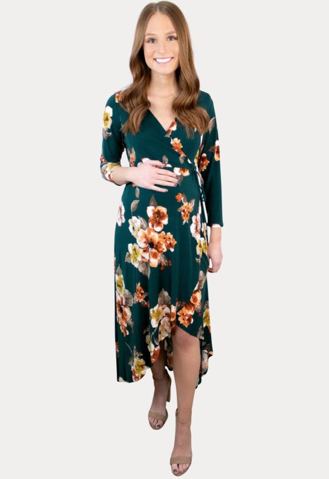high low maternity dress