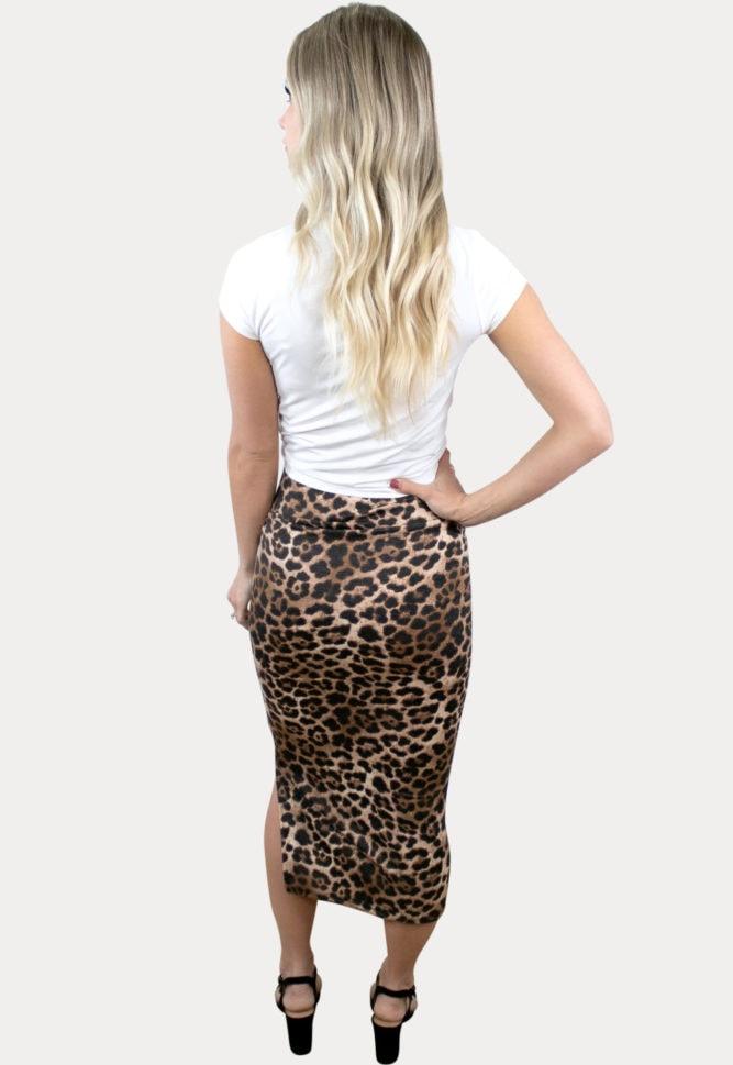 leopard pregnancy skirt