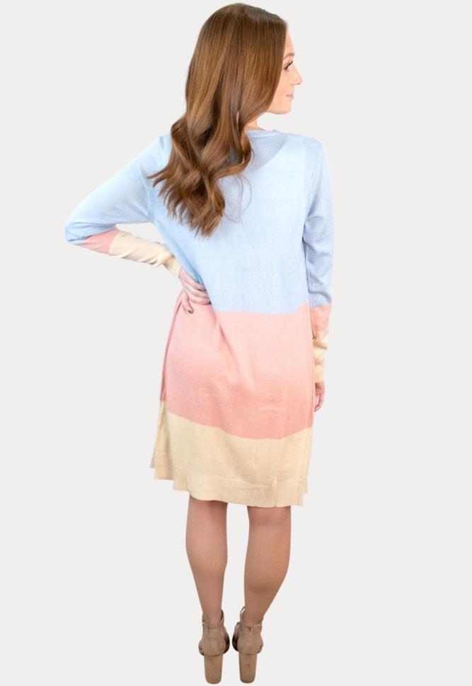 color block pregnancy cardigan