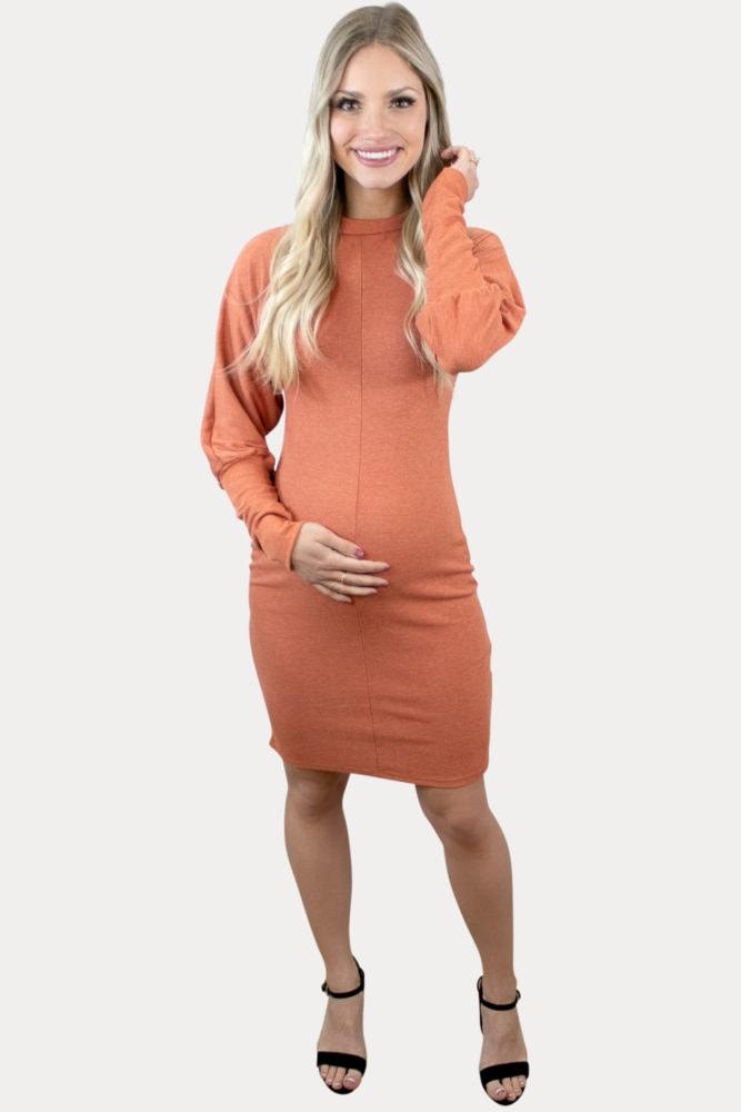 ribbed pregnancy dress
