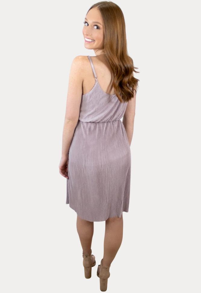 pleated maternity dress