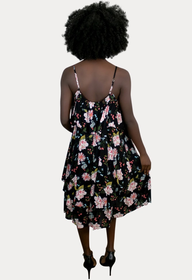 floral black pregnancy dress