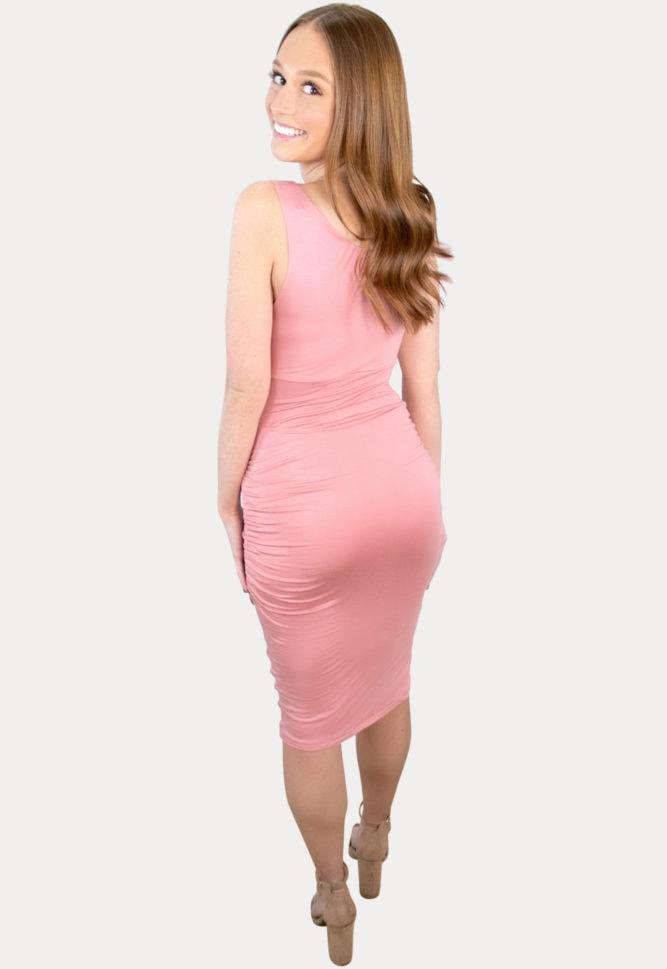 thin strap pregnancy dress