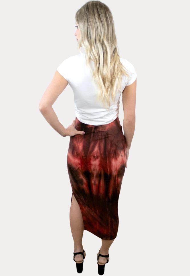 tie dye pregnancy skirt