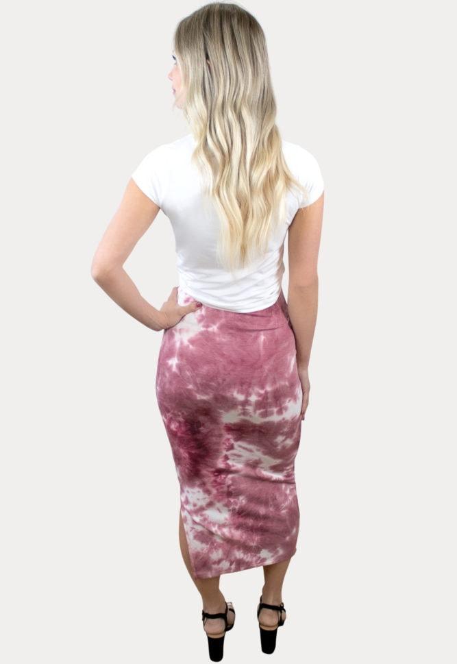 tie dye maternity skirt
