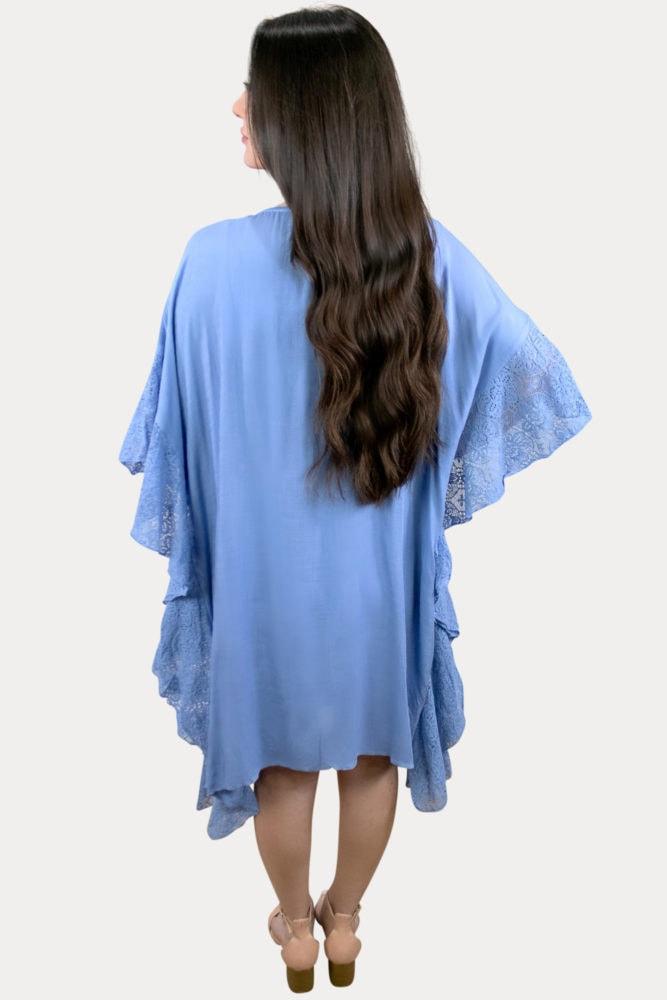 blue pregnancy cardigan