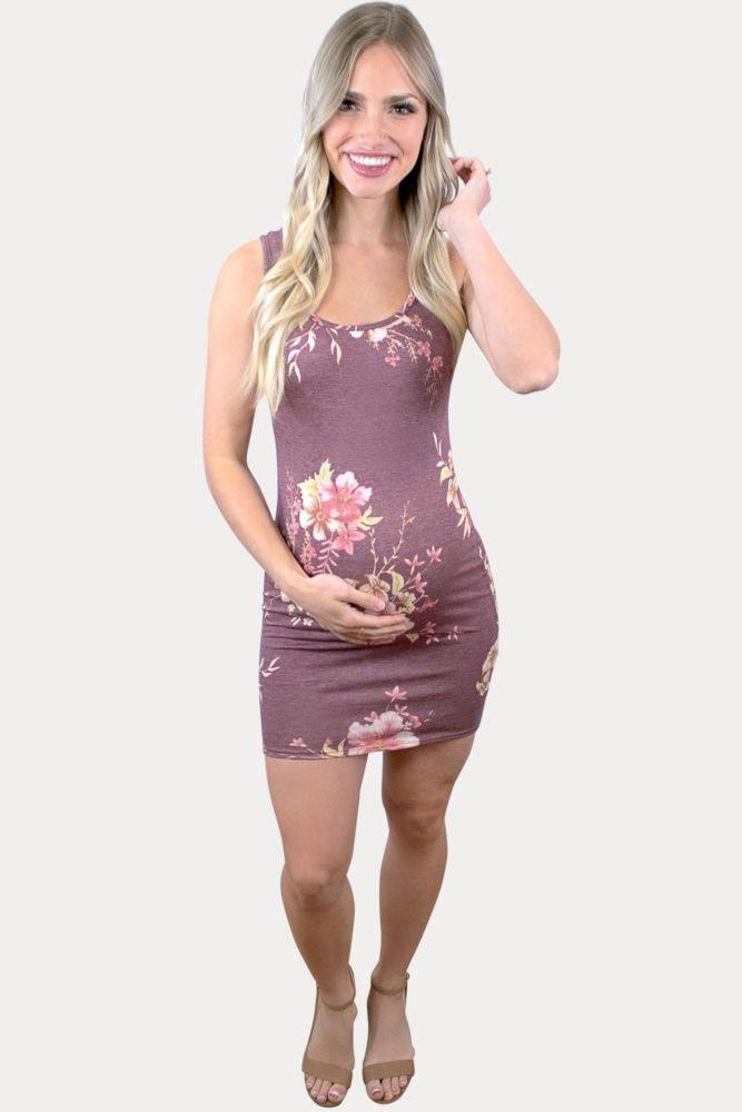 floral mini maternity dress