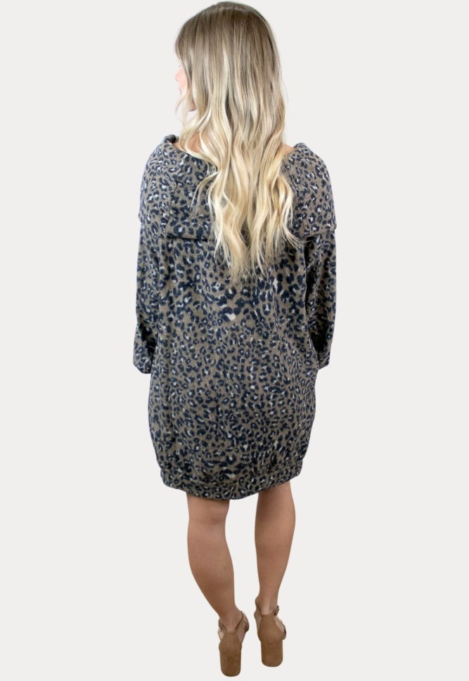 leopard maternity sweater dress