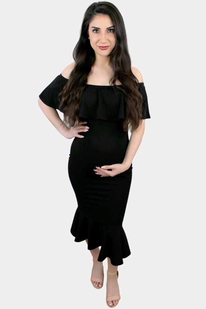 ruffle pregnancy dress