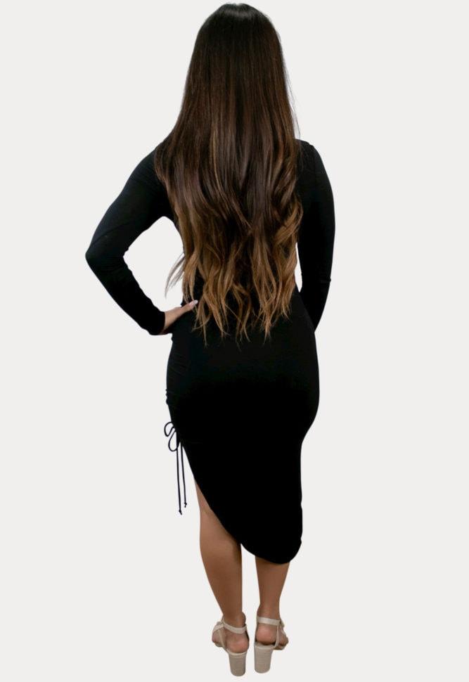 high-low maternity dress