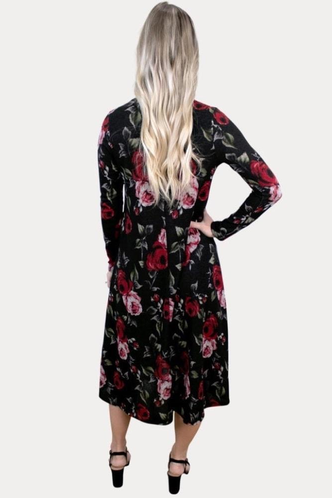 knit floral maternity dress