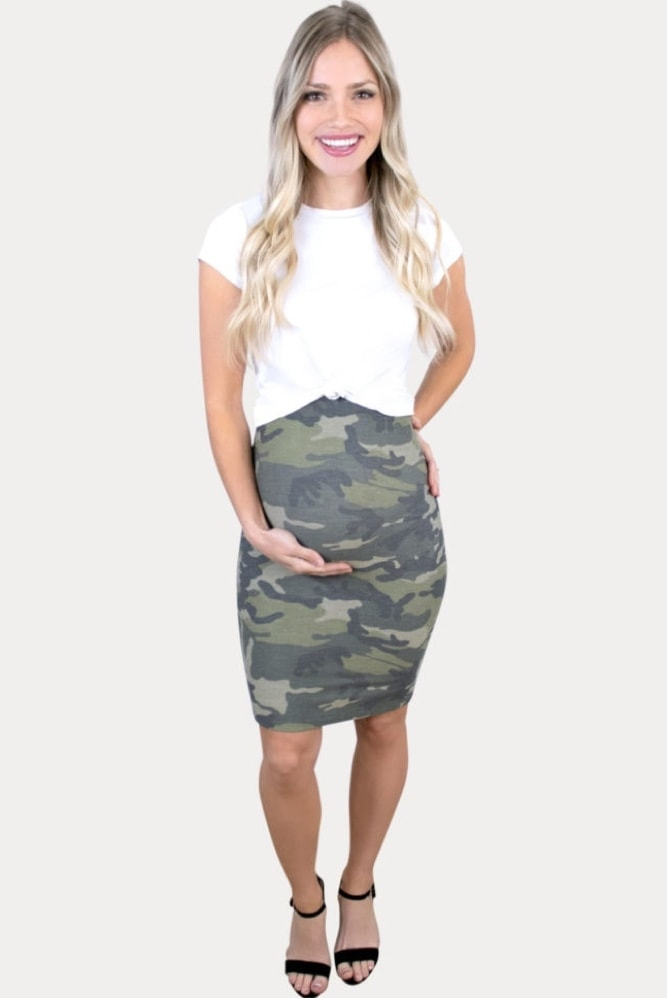 camo pregnancy skirt