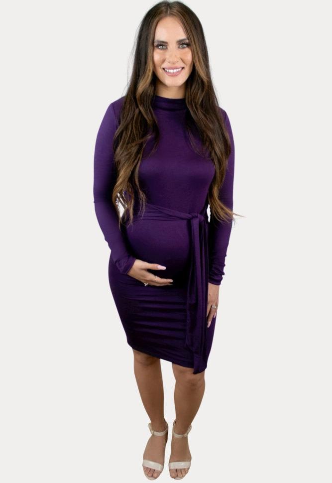 long sleeve pregnancy dress